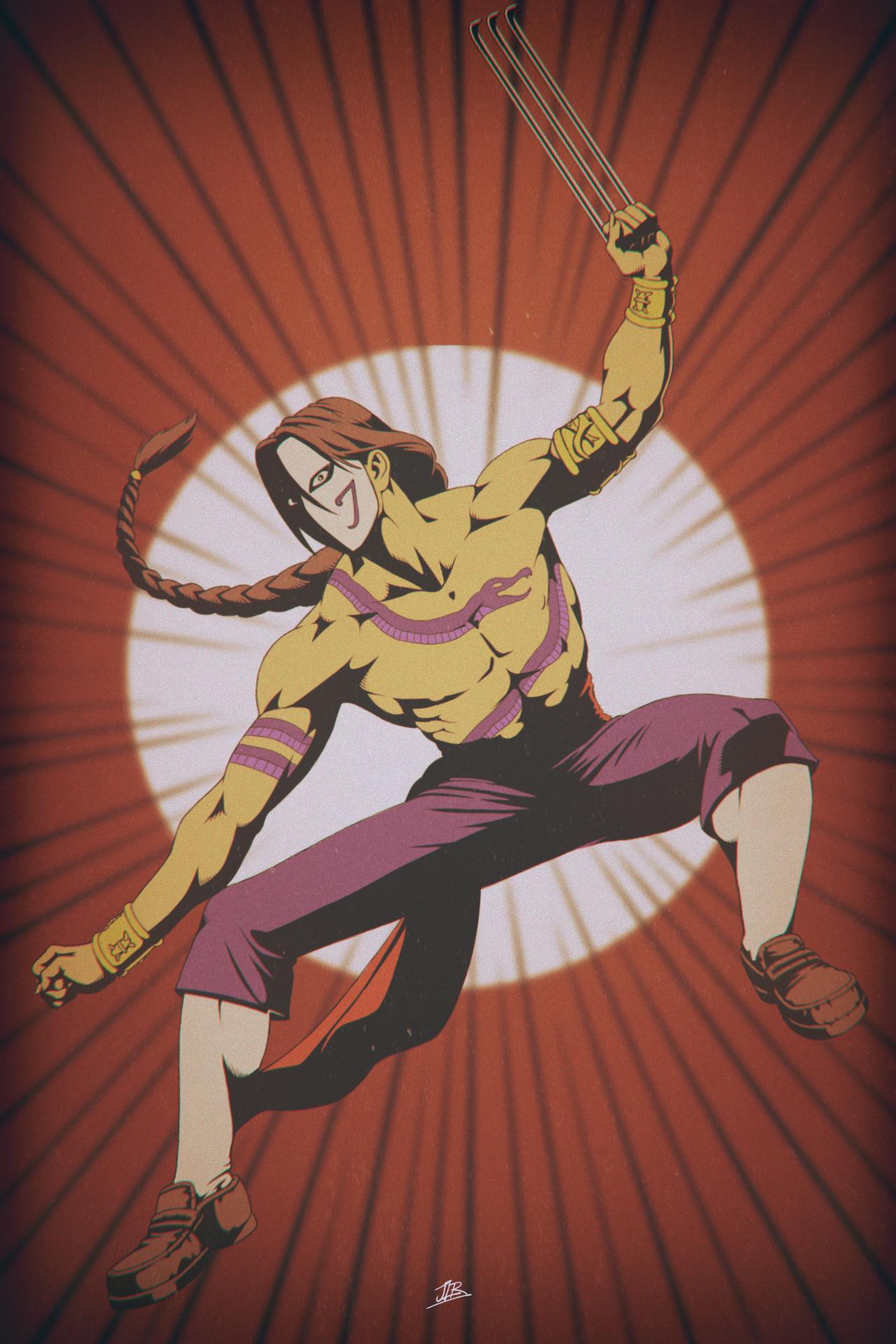 Fanart Of Vega From Street Fighter Street Fighter Fighter Anime