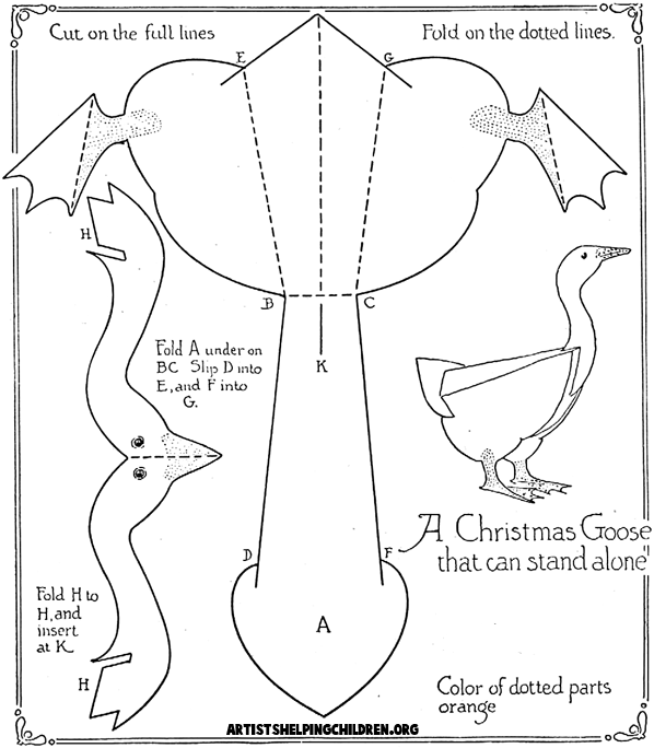 cristmaspaper box templae   Duck & Goose Crafts for Kids: Ideas to make ducks & geese with easy ...