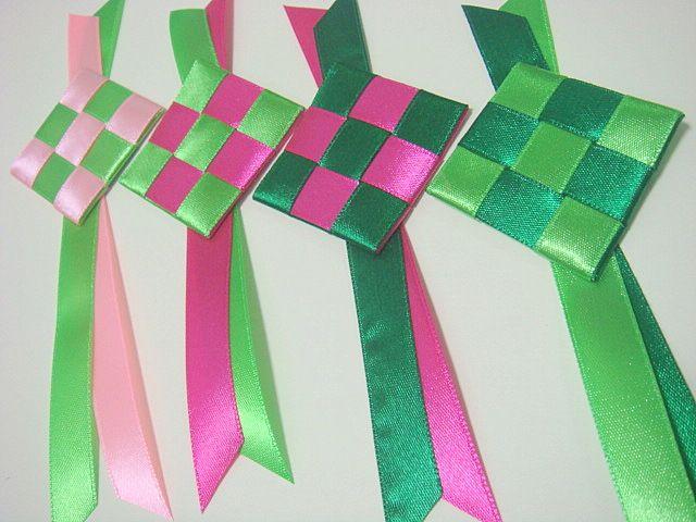 azlina abdul how to make ketupat ribbons for raya cards
