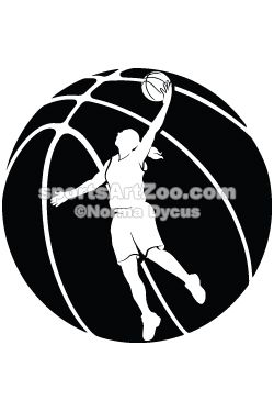 Female Basketball Silhouette With Ball Sportsartzoo Basketball Silhouette Basketball Girls Basketball Design
