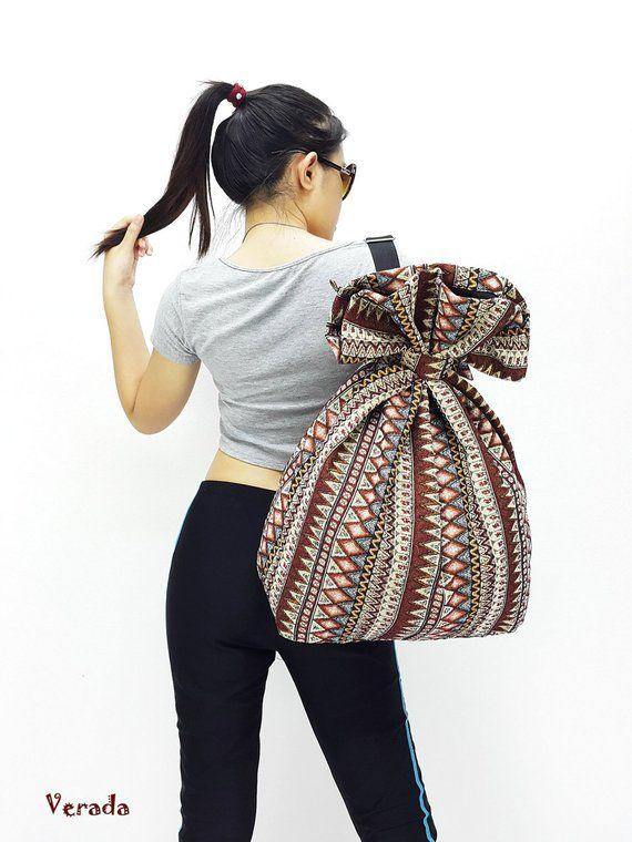 530963792b Woven Cotton Bag Single Strap Backpack Hippie bag Hobo Boho bag Tote Travel  Bag Women bag Handbags S