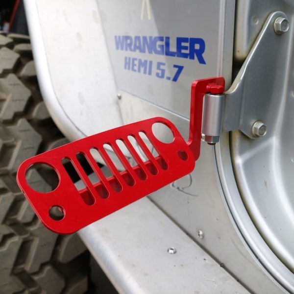 Jk Wrangler Jeep Foot Pegs Red 2007 2018 100 Made In The Usa Jeep Wrangler Jeep Wrangler