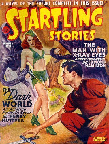 SUPERB A4 GLOSSY PRINT - 'STARTLING STORIES - THE DARK WORLD' (A4 PRINTS…