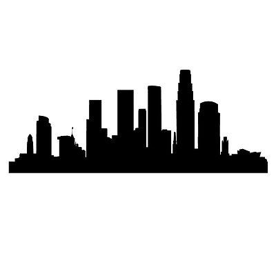 Los Angeles L A Skyline Wall Art Stickers Wall Decals Los Angeles Skyline Sticker Wall Art City Skyline Silhouette