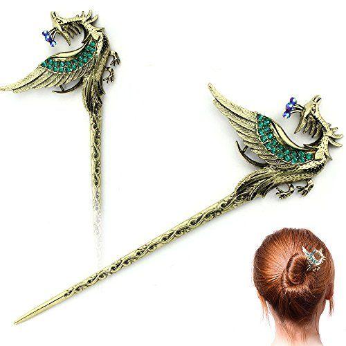 Chinese Hair Chopsticks Hair Decor Crystal Rhinestone Flower Hairpins Sticks