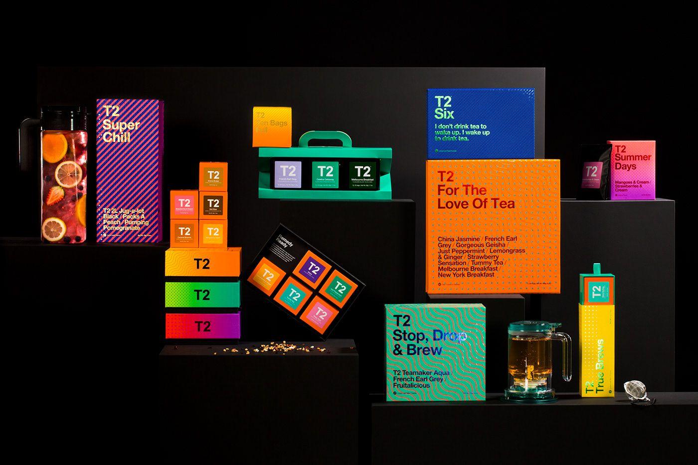 T2 Tea Core Range 2018 on Behance Beautiful packaging