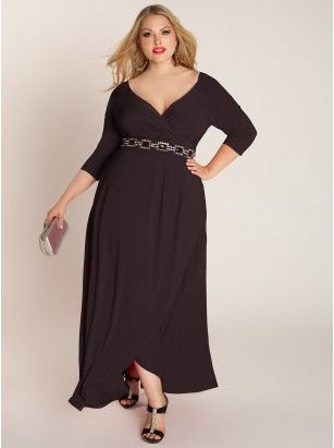 0e1916980ea Nadine Jeweled Plus Size Gown in Onyx - Plus Size Dresses by IGIGI