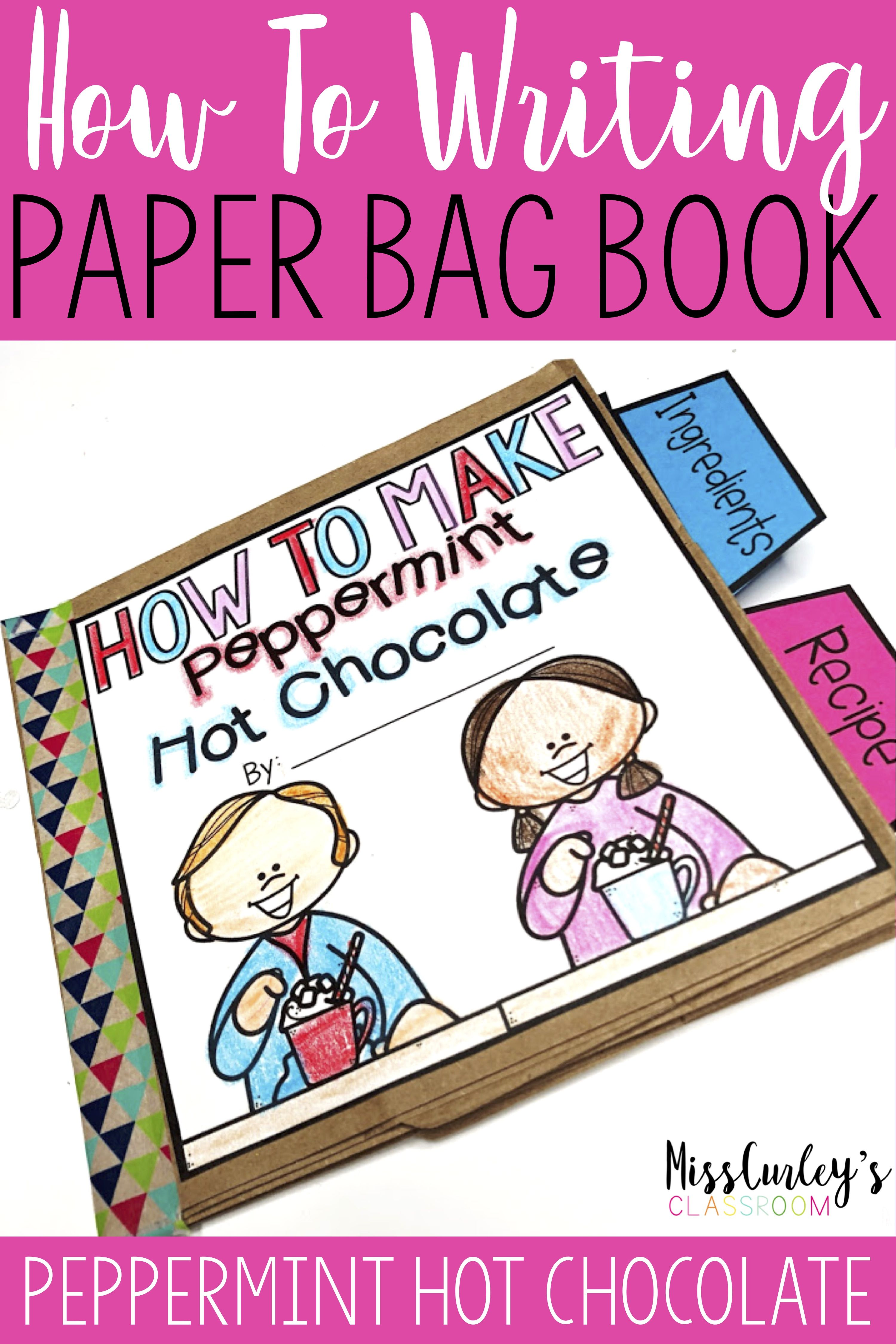 How To Make Peppermint Hot Chocolate Paper Bag Book
