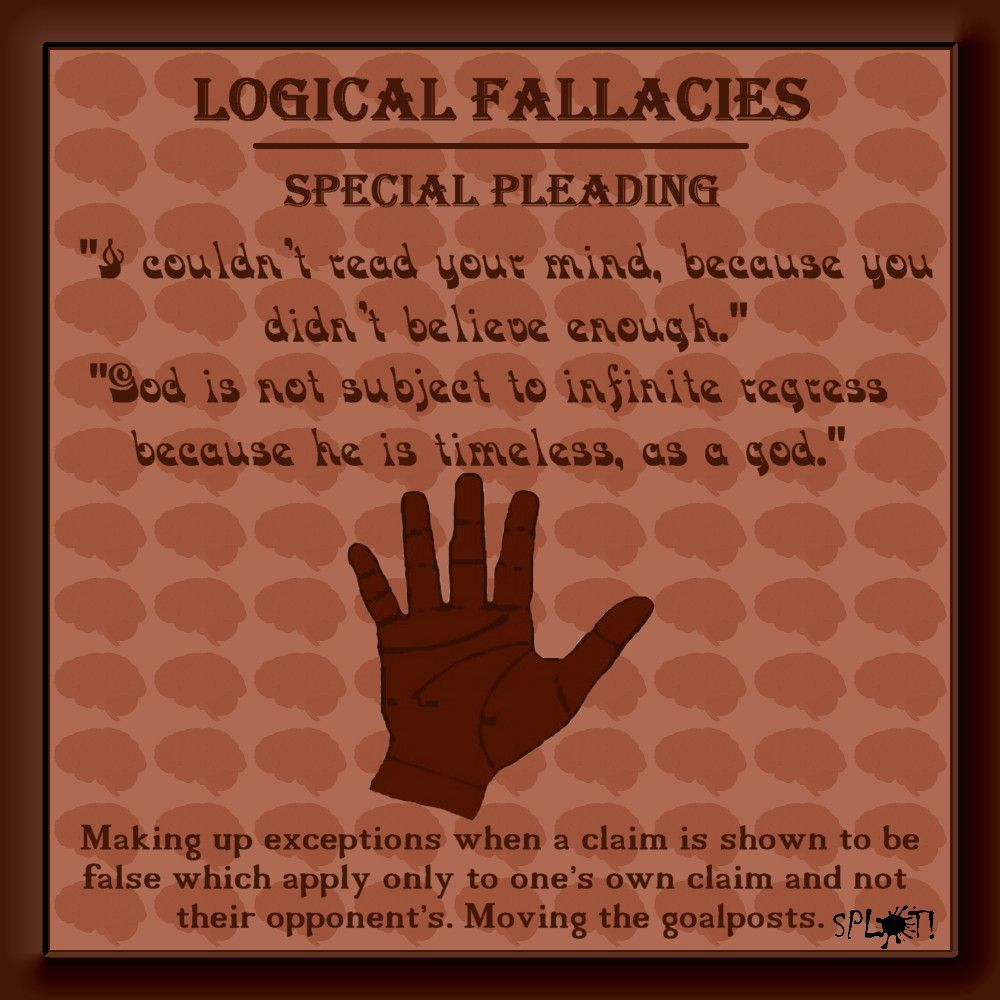 special pleading logical fallacy definition and examples logic special pleading logical fallacy definition and examples