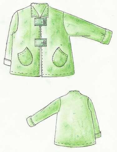 Layered look, single pattern, jacket china   Pinterest ...