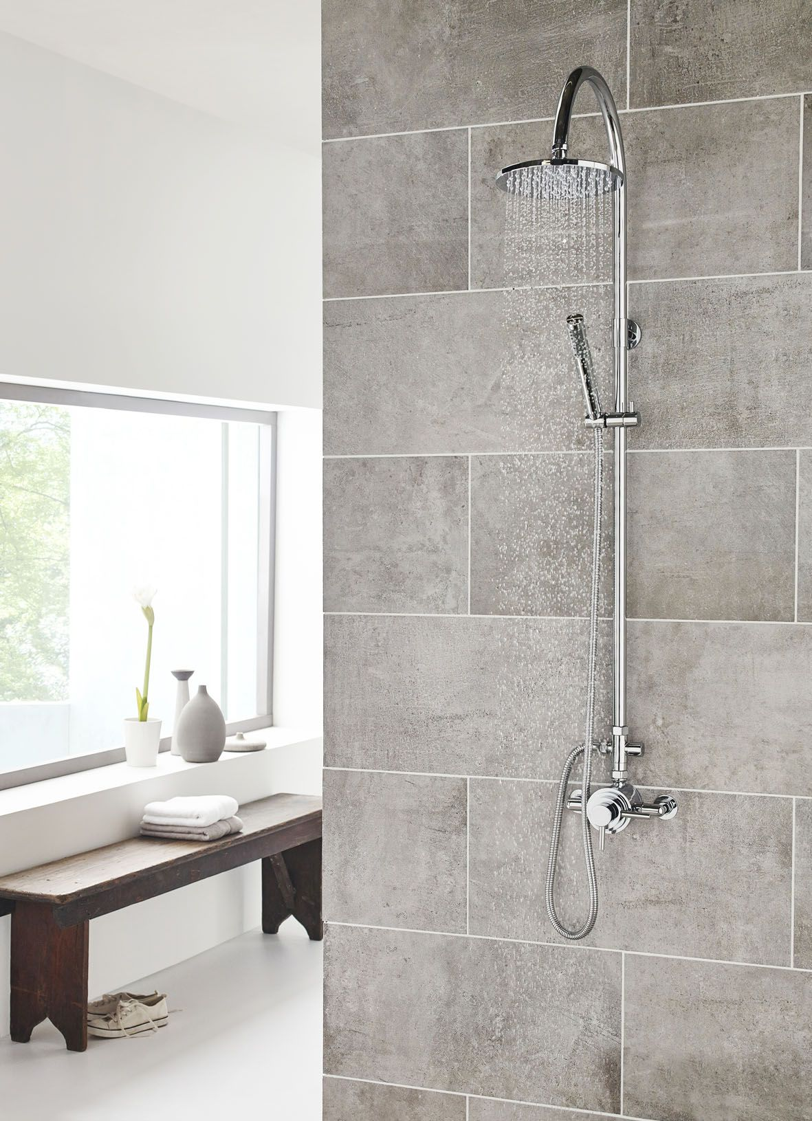 Spirit Dual Exposed shower with luxury shower kit, visit www ...
