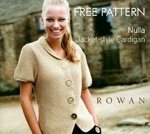 Free Pattern Rowan Nulla Cardigan Rowan Knit Patterns And Patterns