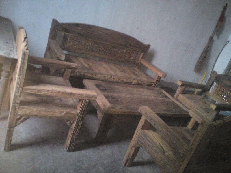 Gartenbänke   Set Bank Stuhl Tisch Teak Holz Gartenbank Sitzbank   Ein  Designerstück Von TAR