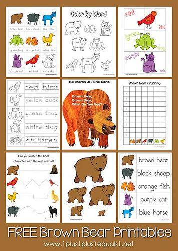 Montessori Inspired Brown Bear Brown Bear Activities Brown Bear Brown Bear Activities Brown Bear Printables Preschool Fun