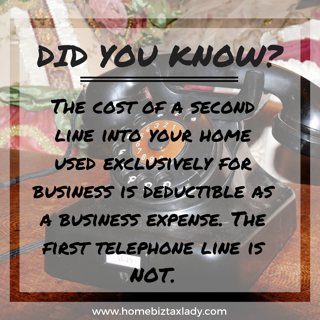 Telephone Expenses Related To Your Home Office Are