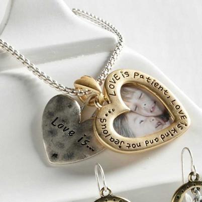 Heart Picture Frame Neckl... - S Rothrock Designs   Scott's Marketplace #shoplocal #shopatscotts #necklace