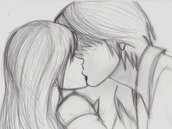 Zizing pencil sketches of couples and friends kiss zizi