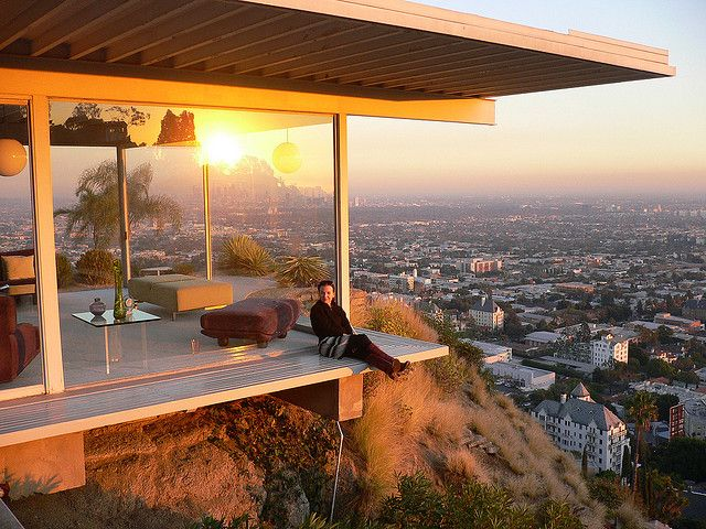 best Case Study Houses images on Pinterest   Architecture  Case         like to be near the top of the Hollywood hills overlooking all of Los  Angeles basin on a very warm and very clear day as it transitions into  evening
