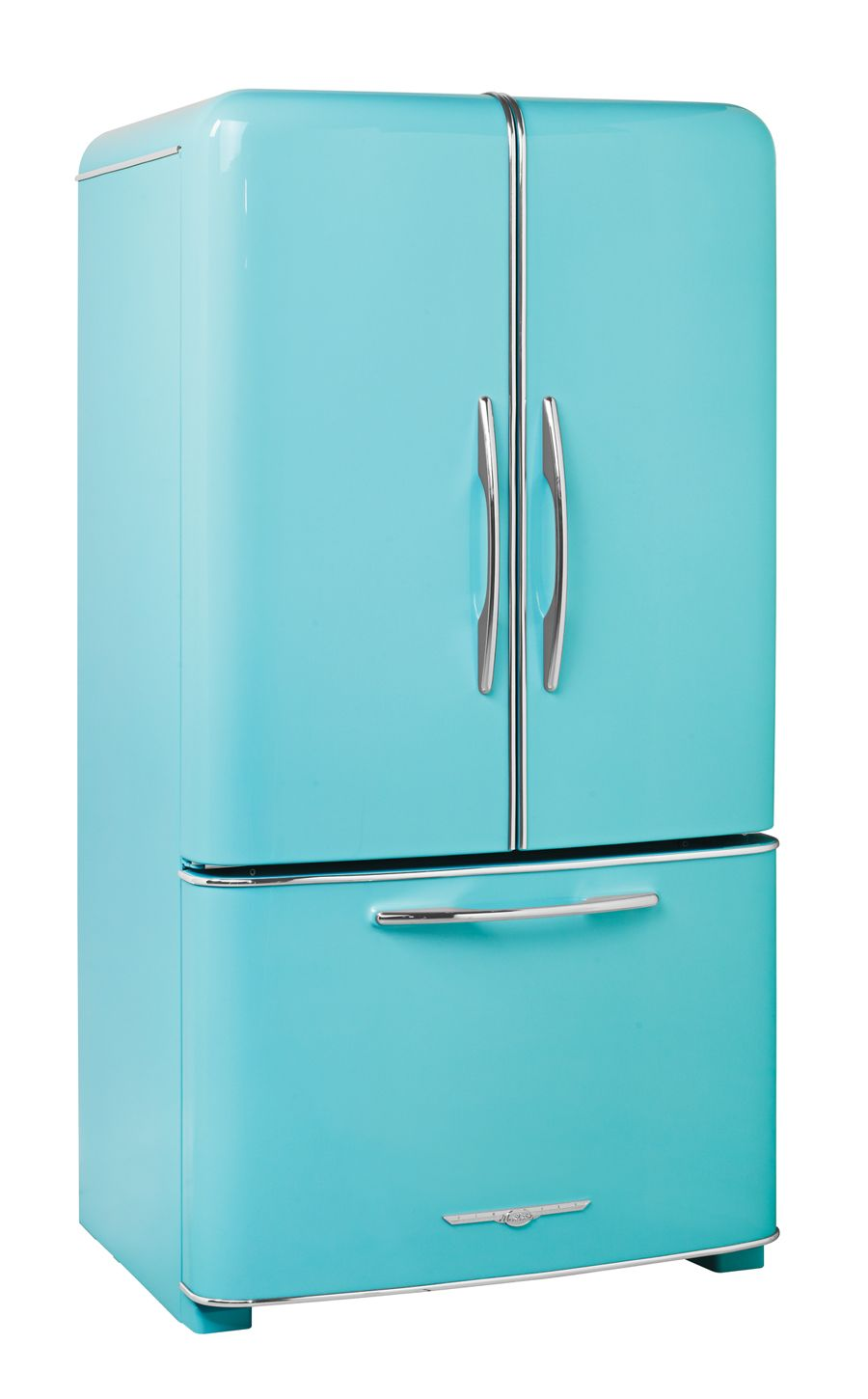 A wonderful two doors turquoise Fridge | Home Style | Pinterest | Doors