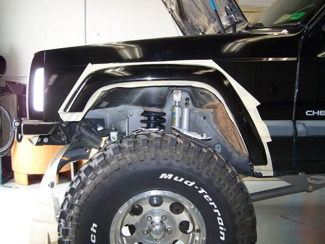 Front Fender Trim Write Up Retaining The Stock Flare Jeep Xj