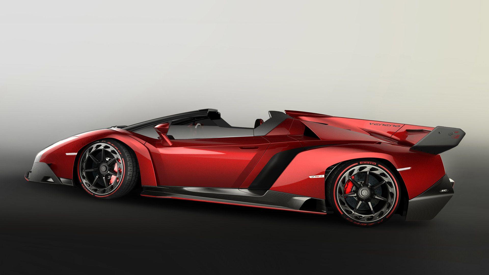 Lamborghini veneno side view