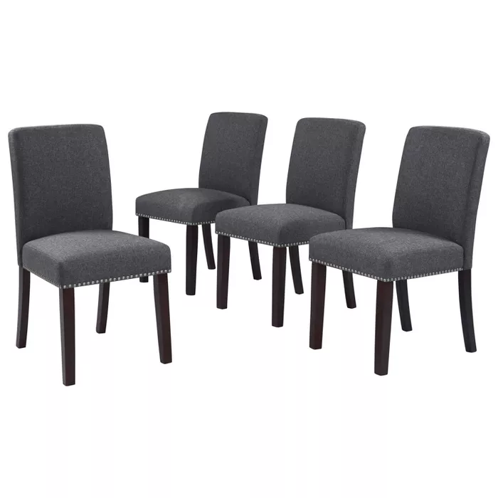Foodage Modern Dining Chairs Set Of 4 Velvet Upholstered Kitchen Side Chairs With Sturdy Metal Le Dining Chairs Upholstered Dining Chairs Modern Dining Chairs