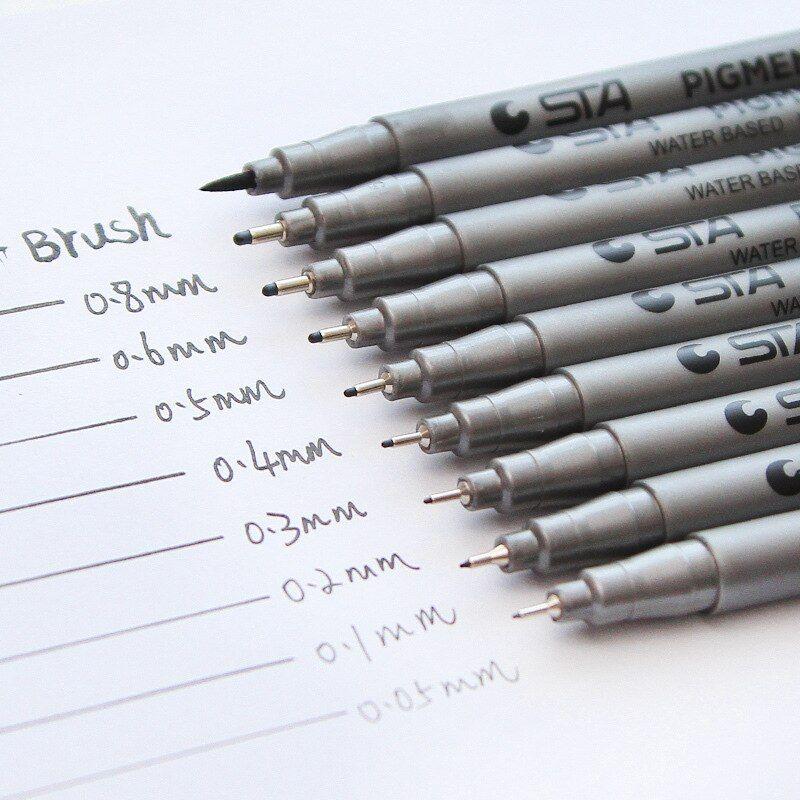 Sta رسم علامات أقلام تلوين القلم تلميح مختلف الأحجام الصباغ بطانة المياه القائمة على الرسم الكتابة اليدوية مورد القرطاسية Sketch Markers Marker Pen Marker Art