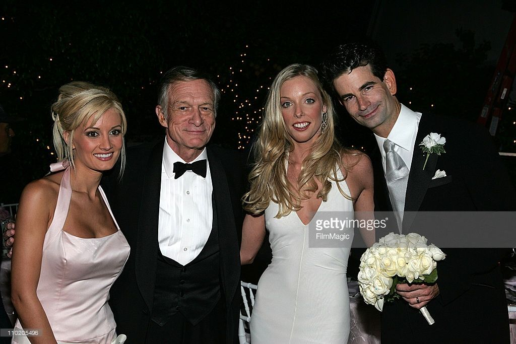 Holly Madison Hugh Hefner With The Newlyweds Ashley Lauren Anderson And Charlie Matthau Son Of