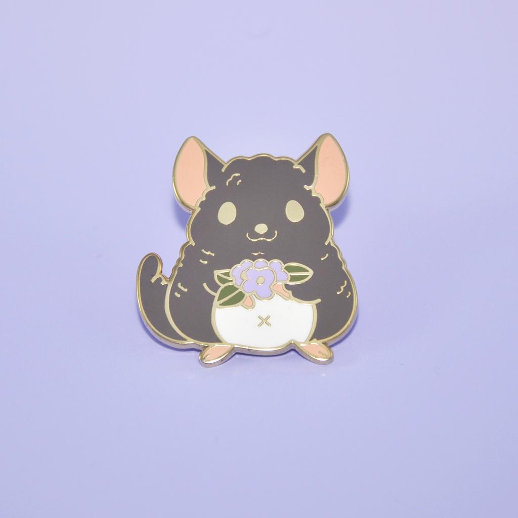 Rat Image Design Metal Pin Badge