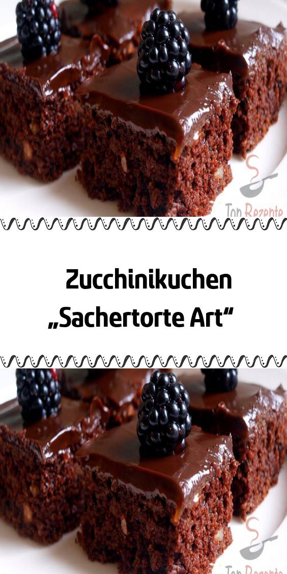 """Photo of Zucchini cake """"Sachertorte Art"""""""