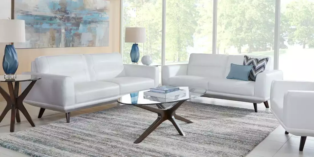 Sofia Vergara Capistrano White Leather 3 Pc Living Room Rooms To Go Living Room Sets Furniture Living Room Living Room Decor Inspiration