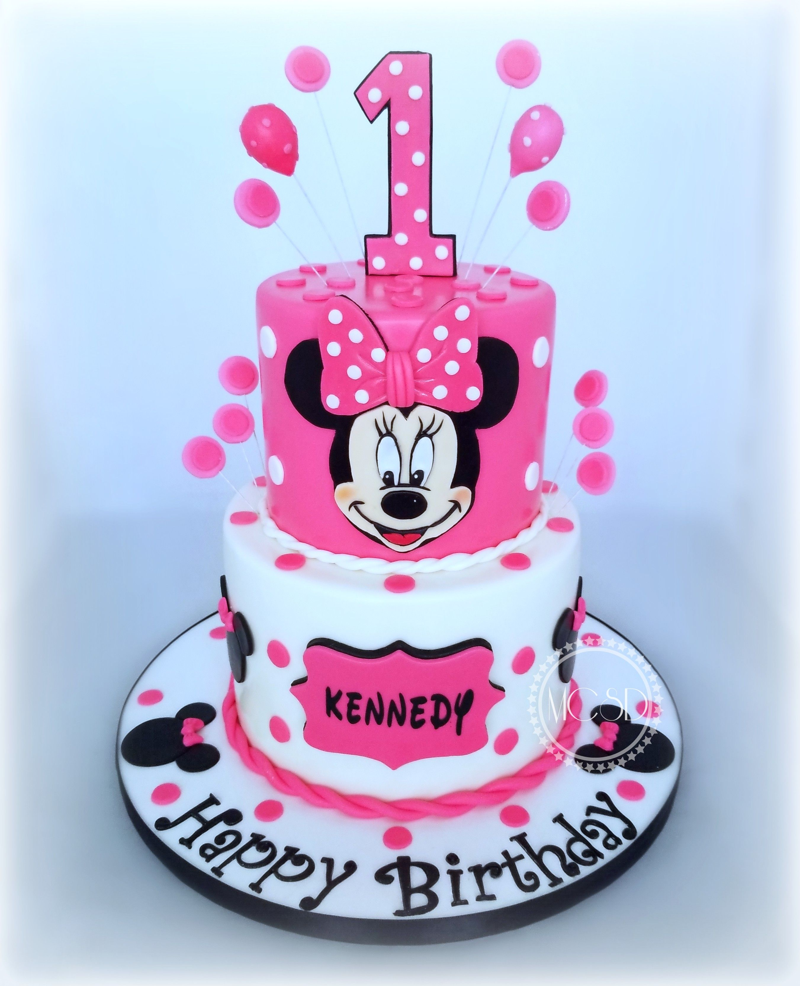 Pleasing Minnie Mouse 1St Birthday Cake Birthday Cake 1St Birthday Cake Funny Birthday Cards Online Elaedamsfinfo