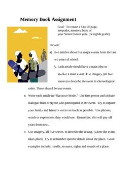 Memory Book Creative Writing Assignment Narrative Books Favorite Essay