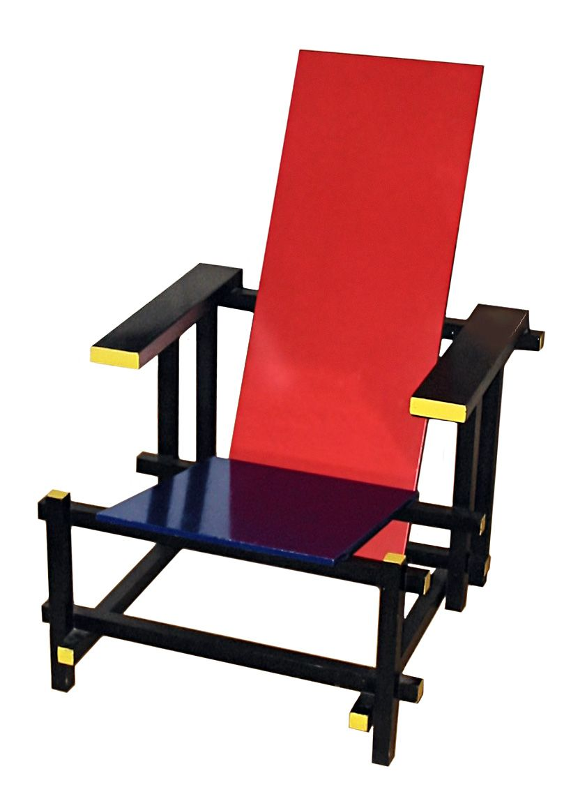 Rietveld, inspired by Mondrian, designed with comfort way