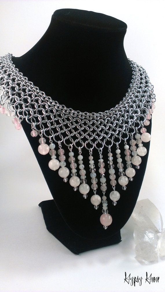 Stunning Chainmaille Collar Goddess Necklace with