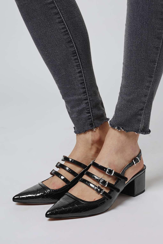 5487ea141a2 JAVA Croc Sling-Back Shoes - Topshop USA