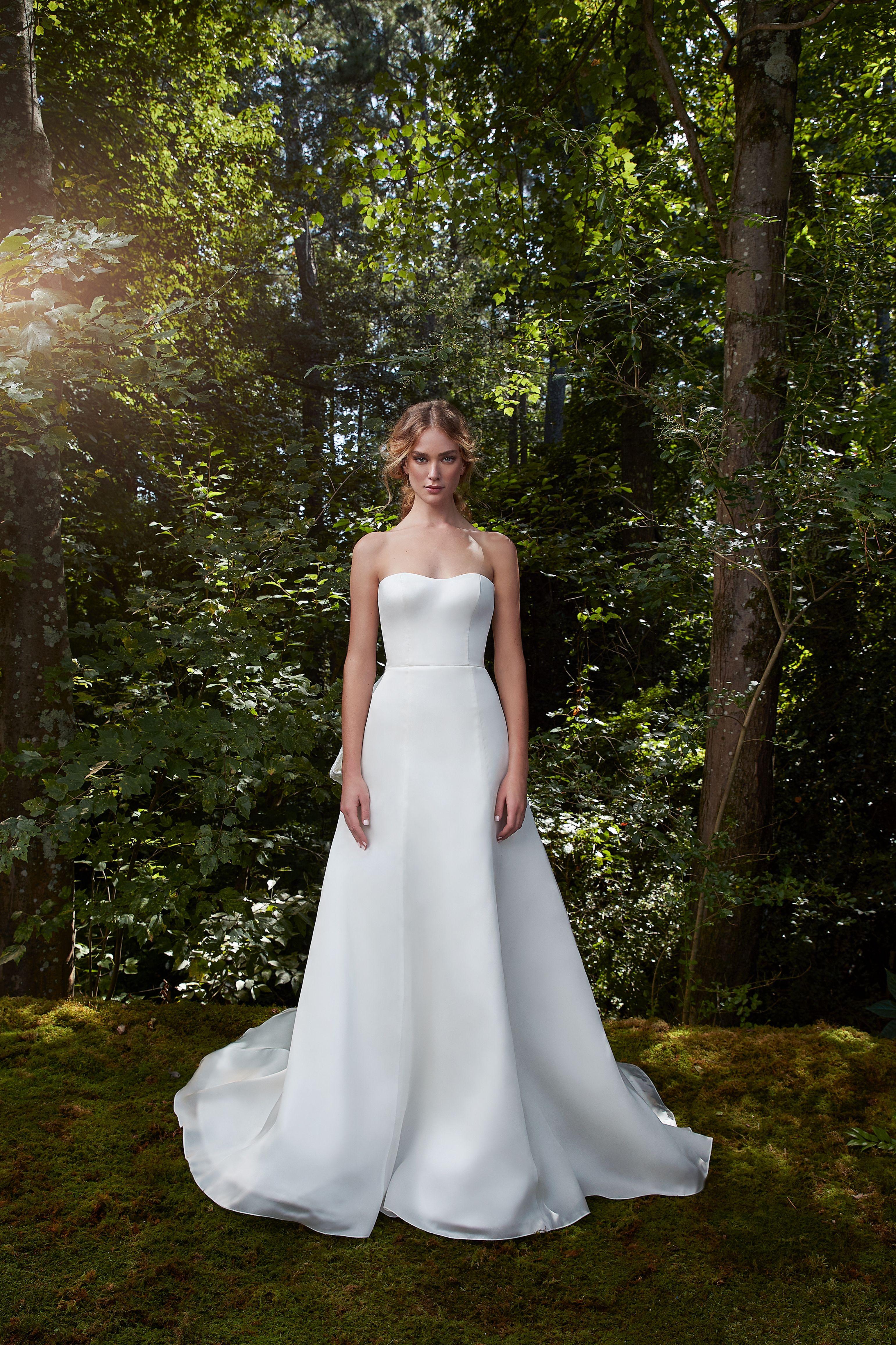 Strapless Aline Simple Wedding Dress By Anne Barge Bridal Wedding Dresses Simple Wedding Dresses Wedding Dress Necklines [ 4625 x 3083 Pixel ]