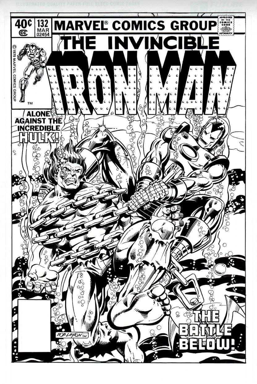 Iron Man 132 Cover Recreation 2004 Original Artwork Art By Comics Iron Man Comic Marvel Comics