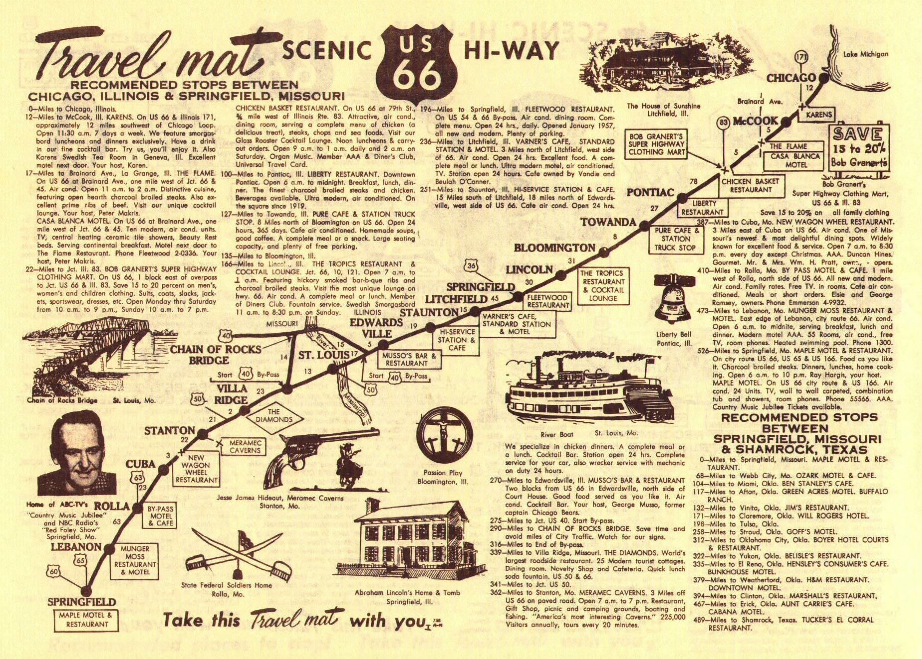 Route Map Google Search Route Travel Scrapbook - Historic us 66 map