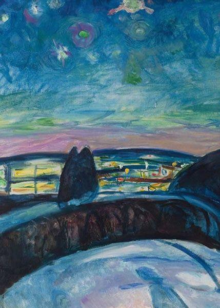 Starry Night - Edvard Munch 1922-1924