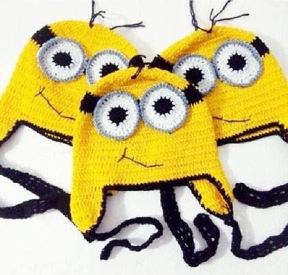 Gehäkelt Minions Mütze … | Pinteres…