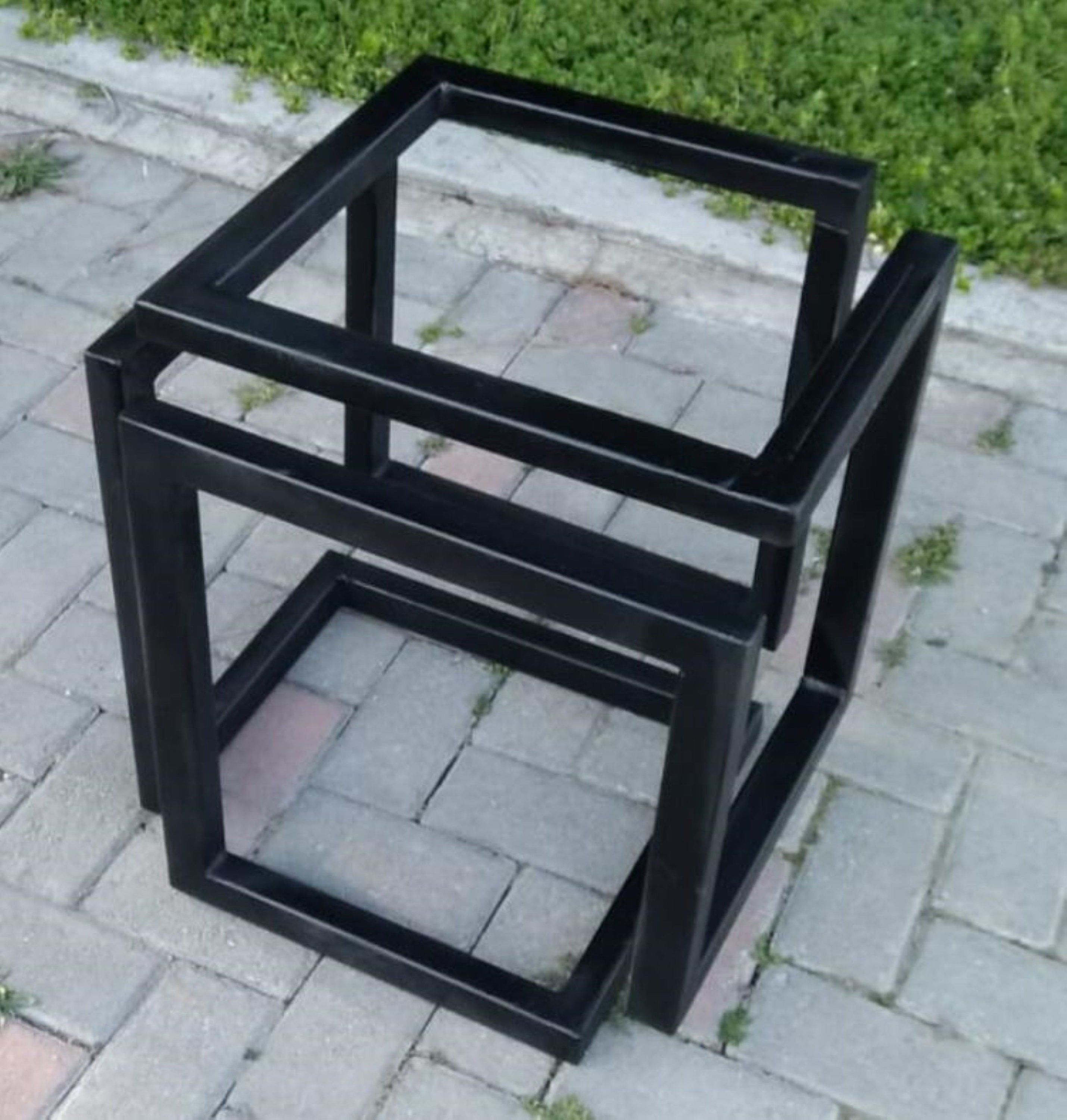 Metal Coffee Table Base Square Table Base Industrial Look Table
