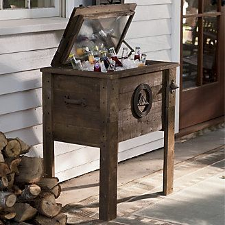 Rustic Coolers From Through The Country Door Wooden Cooler Wooden Ice Chest Rustic