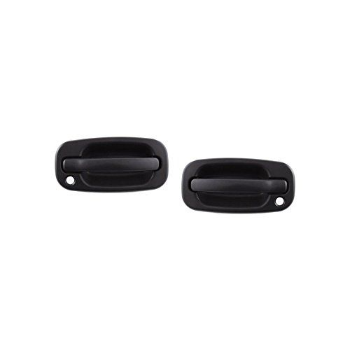 Exterior Door Handles For Silverado Sierra P U 99 07 Set Of 2 Front Left And Right Side Plastic Black W Keyho Exterior Door Handles Exterior Doors Door Handles