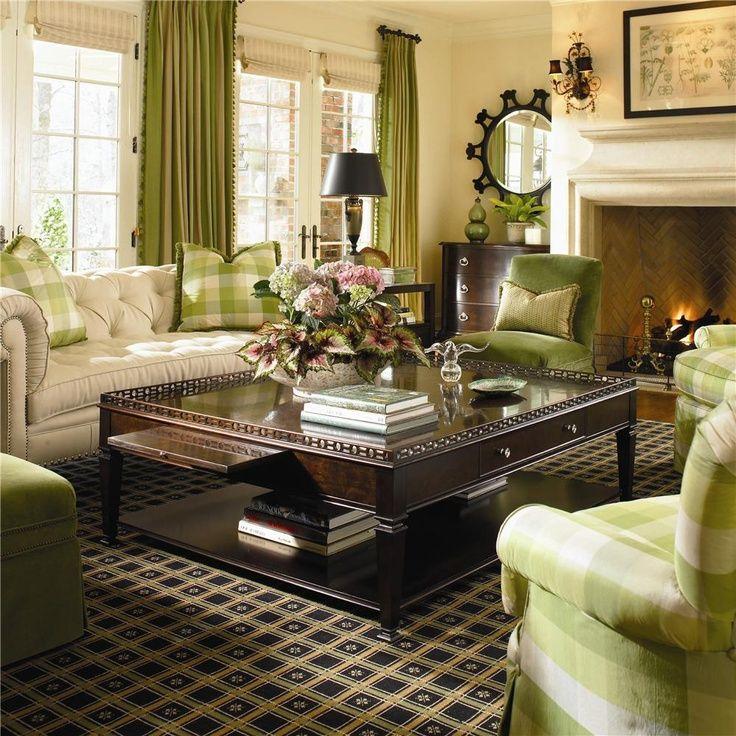 Ashley Furniture Delmar De: Decoración De Sala En Tono Pastel Mezclado Con Verde