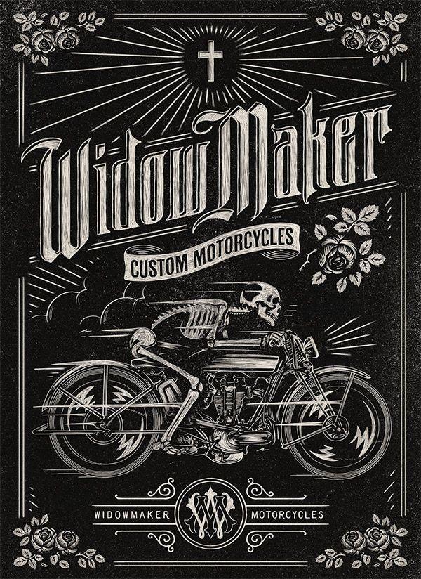 30 Vintage Designs for Custom Car & Motorcycle Brands