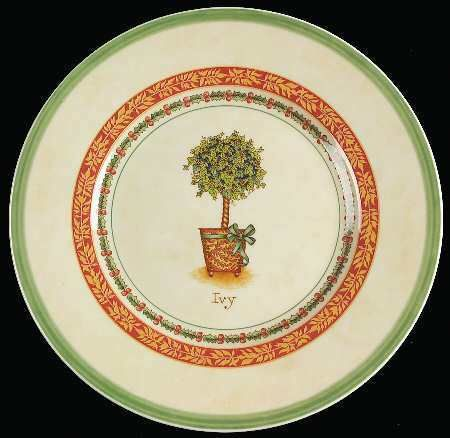 Festive Memories-Topiary Salad/Dessert Plate, Fine China Dinnerware - Salad/Dessert, Mug, Various Trees