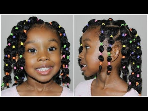 Back To School Hairstyle Pinterest Inspired Bubble Ponytail S Youtube Kids Braided Hairstyles Black Kids Hairstyles Natural Hair Styles