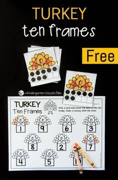 Turkey Ten Frame Math Game
