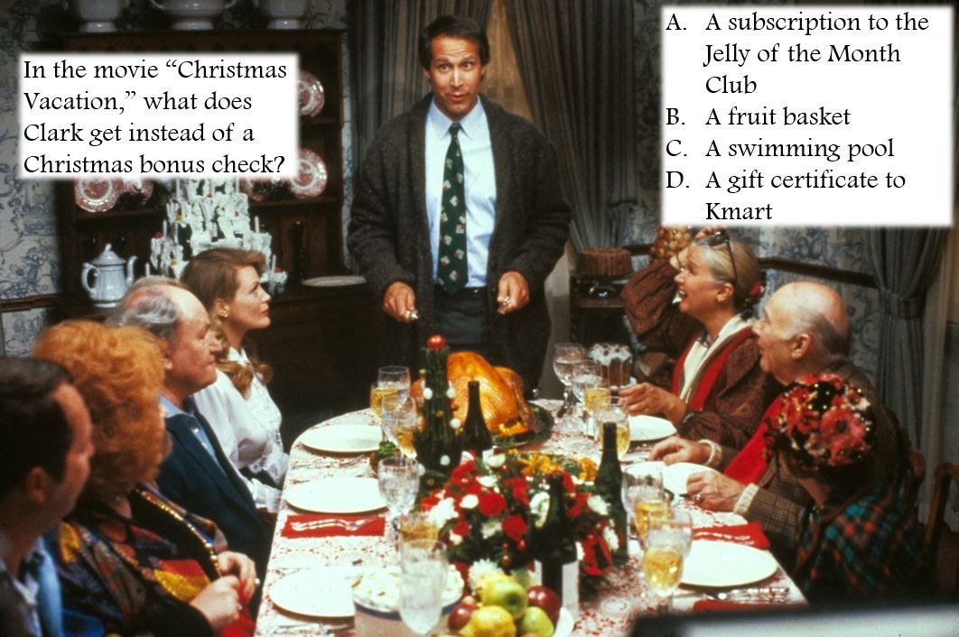 """Holiday Movie Trivia! Question In the movie """"Christmas"""